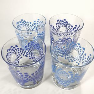 Set of 4 Ikea kaleidoscope glasses